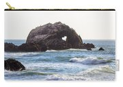 Heart Rock Near San Francisco Ca Cliff House Carry-all Pouch