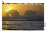 Rockaway Beach Oregon Turning The Sky To Gold Carry-all Pouch