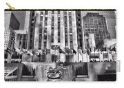 Rockefeller Center Black And White Carry-all Pouch