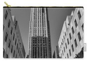 Ge Building In Black And White Carry-all Pouch