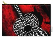 Rockin Guitar In Red Typography Carry-all Pouch