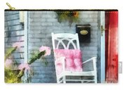 Rocking Chair With Pink Pillow Carry-all Pouch by Susan Savad