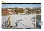 Rockport Maine In Winter Carry-all Pouch by Keith Webber Jr