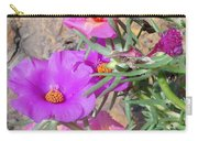 Rocks And Roses Carry-all Pouch