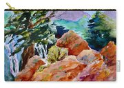 Rocks Near Red Feather Carry-all Pouch