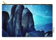 Rocky Cliff In Starlight Carry-all Pouch