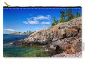 Rocky Coast And Clear Water Of Lake Superior Carry-all Pouch