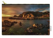 Rocky Coastline At Sunset, Point Carry-all Pouch