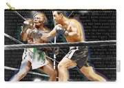 Rocky Marciano V Jersey Joe Walcott Quotes Carry-all Pouch
