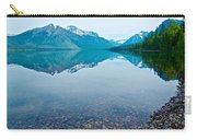 Rocky Mountain And Rocky Bottom Reflection In Lake Mcdonald In Glacier National Park-montana Carry-all Pouch