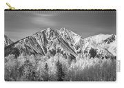 Rocky Mountain Autumn High In Black And White Carry-all Pouch
