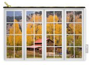 Rocky Mountain Autumn Ranch White Window View Carry-all Pouch