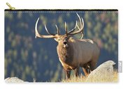 Rocky Mountain Bull Elk Bugling Carry-all Pouch