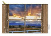 Rocky Mountain Country Beams Of Sunlight Rustic Window Frame Carry-all Pouch