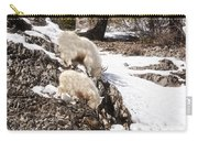 Rocky Mountain Goats - Mother And Baby Carry-all Pouch