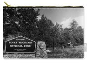 Rocky Mountain National Park Signage Carry-all Pouch