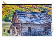 Rocky Mountain Rural Rustic Cabin Autumn View Carry-all Pouch