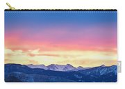 Rocky Mountain Sunset Clouds Burning Layers  Panorama Carry-all Pouch