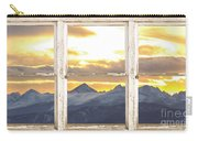 Rocky Mountain Sunset White Rustic Farm House Window View Carry-all Pouch