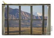 Rocky Mountains Flatirons With Snow Longs Peak Bay Window View Carry-all Pouch