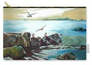 Rocky Seashore And Seagulls Carry-all Pouch
