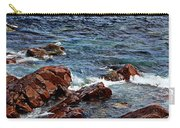 Rocky Shoreline - Coast -  Painterly Effects -  Panorama Carry-all Pouch
