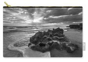 Rocky Surf In Black And White Carry-all Pouch