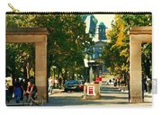 Roddick Gates Painting Mcgill University Art Students Stroll The Grand Montreal Campus C Spandau Carry-all Pouch