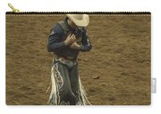Rodeo Cowboy Dusting Off Carry-all Pouch