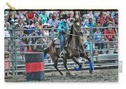 Rodeo Cowgirl Carry-all Pouch by Gary Keesler