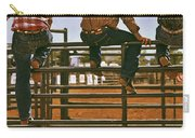 Rodeo Fence Sitters- Warm Toned Carry-all Pouch