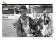 Rodeo Gunslinger With Saloon Girls Bw Carry-all Pouch