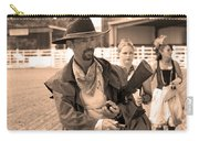 Rodeo Gunslinger With Saloon Girls Sepia Carry-all Pouch