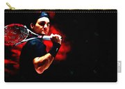 Roger Federer Tennis Carry-all Pouch by Lanjee Chee
