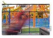 Rollercoasters At Amusement Park Carry-all Pouch