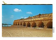 Roman Aqueduct From Mount Carmel 12 Km Away To Mediterranean Shore In Caesarea-israel  Carry-all Pouch