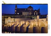 Roman Bridge And Mezquita In Cordoba At Dawn Carry-all Pouch