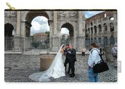 Roman Colosseum Bride And Groom Carry-all Pouch