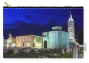 Roman Forum And St Donatus Church At Night Zadar Croatia Carry-all Pouch