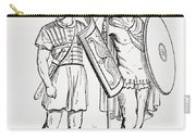 Roman Infantry Soldiers, After Figures On Trajans Column.  From The Imperial Bible Dictionary Carry-all Pouch