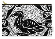 Roman Mosaic Bird Carry-all Pouch by Mair Hunt