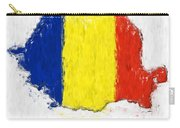 Romania Painted Flag Map Carry-all Pouch