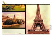 Romantic Paris Sunset Collage Carry-all Pouch