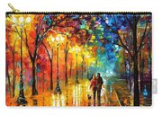 Romantic Stroll - Palette Knlfe Oil Painting On Canvas By Leonid Afremov Carry-all Pouch