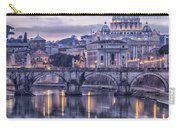 Rome And The River Tiber At Dusk Carry-all Pouch