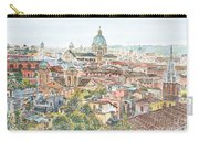 Rome Overview From The Borghese Gardens Carry-all Pouch by Anthony Butera