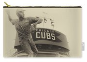 Ron Santo Chicago Cub Statue In Heirloom Finish Carry-all Pouch
