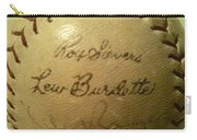 Ron Sievers And Lew Burdette Autograph Baseball Carry-all Pouch