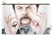 Ron Swanson Mustache Portrait Carry-all Pouch