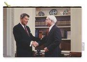 Ronald Reagan And John Mccain Carry-all Pouch by Carol Highsmith